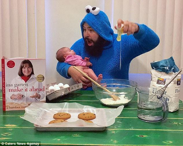 Будни образцового отца: американец наряжается и делает смешные фото со своей дочерью