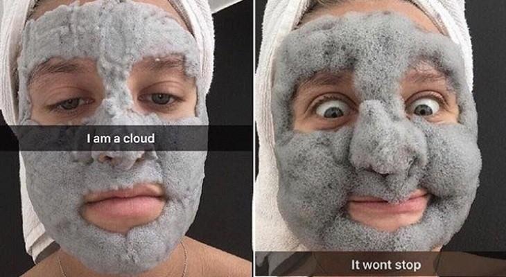 Пользователи в восторге от маски для лица, которая превращается в облако