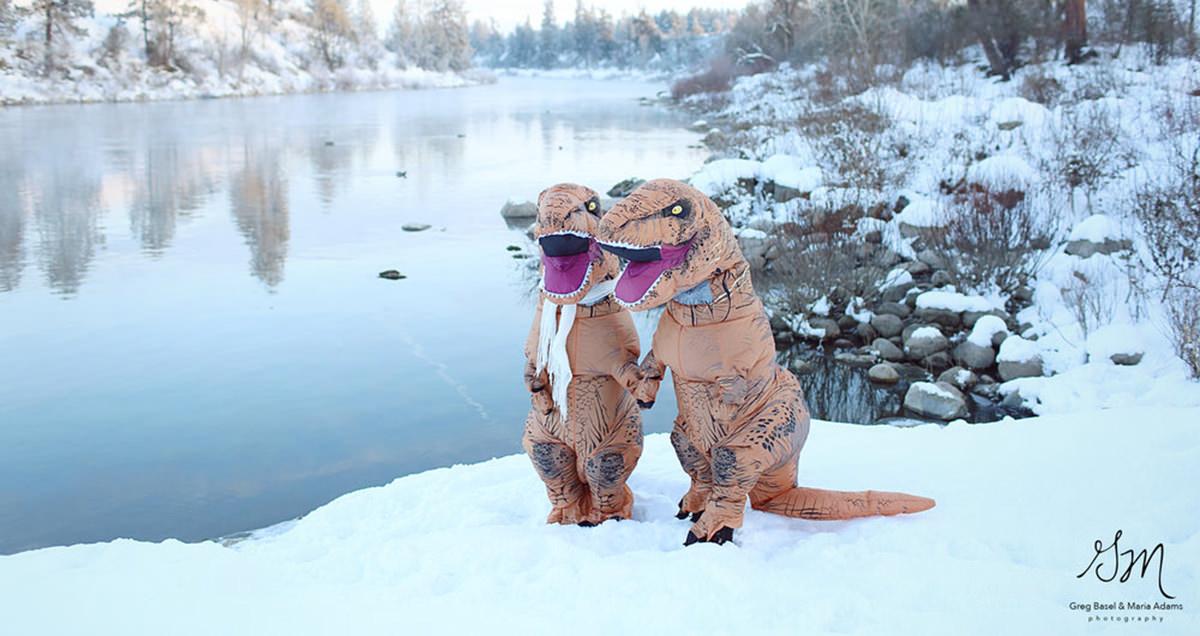 Это самая романтичная фотосессия: влюбленные тираннозавры