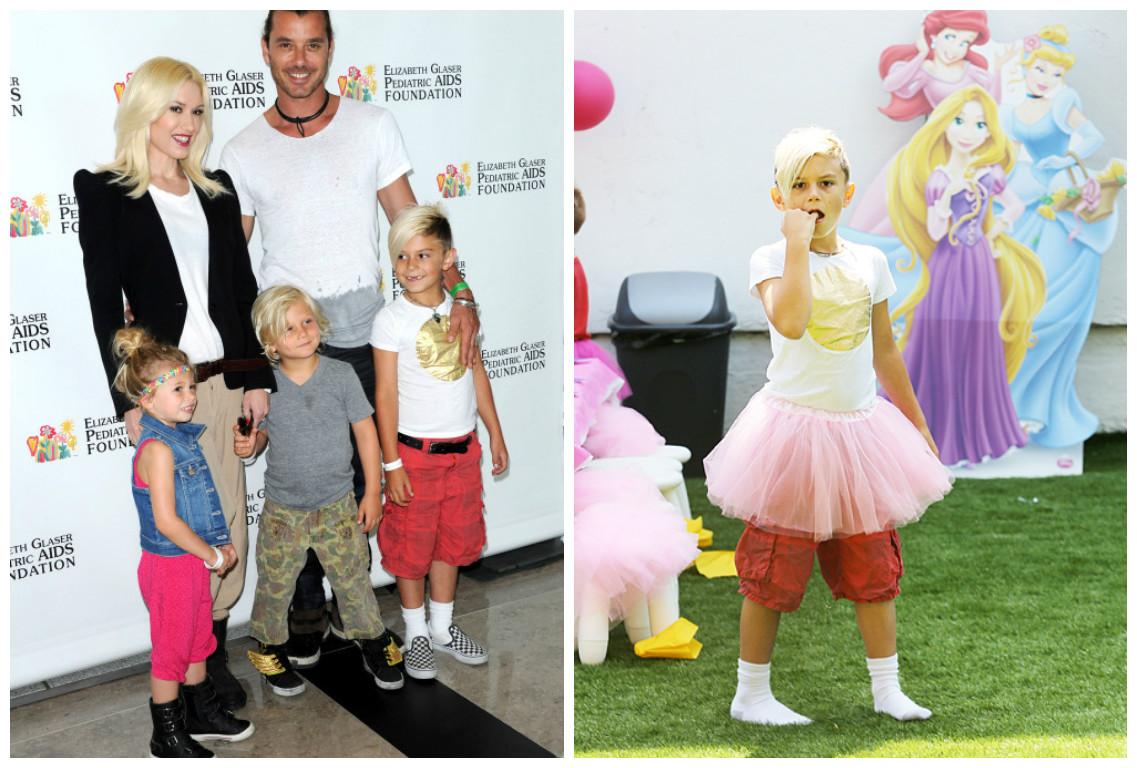 STARBOOK: Шарлиз Терон одевает сына, как девочку, и она не единственная